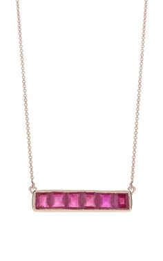Baja Precious Necklace In Ruby by Monica Vinader for Preorder on Moda Operandi