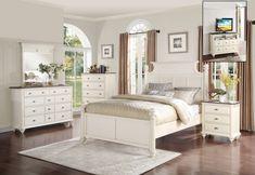 Floresville Bedroom Set Antique White Master Queen Wood Sets