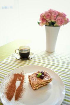 Great morning... #morning #cake #tiramisu #coffe