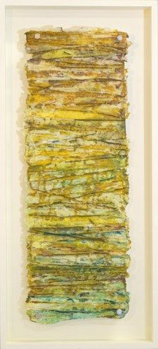 String Wrap | Encaustic, rice paper, string, dyes -  Maralyn Wilson