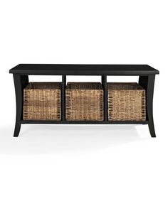 Take a look at this Black Wallis Entryway Storage Bench on zulily today!