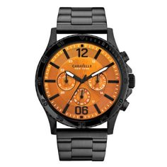 Caravelle New York - Men\'s Logan Black Chronograph Watch - 45A108 - RRP: £129.00 - Online Price: £109.00