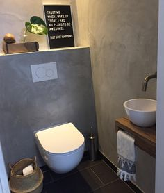 Found a place for my letterboard! I love sarcasm! Ijne Have a nice Sunday dear . Downstairs Cloakroom, Downstairs Toilet, French Bathroom, Small Bathroom, I Love Sarcasm, Wc Set, Toilet Sink, Pastel Interior, Small Toilet