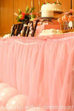 ...the tulle table skirt... #tutu #babygirl #birthday #babyshower