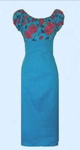 1950's Pin up style peasant wiggle dress in a blue or pink floral hawaiian print. Available in sizes 8-22. Each dress is custom made to order with love and care by myself  for only £34.99 plus P+P! Available to buy from my facebook store. 10% off all orders for one week only. Ends 22nd April.
