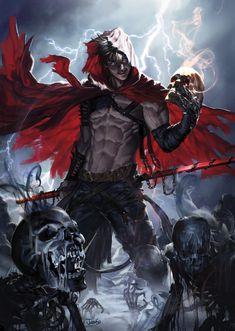 40 new ideas for dark fantasy art character inspiration legends Dark Fantasy Art, Fantasy Male, Fantasy Warrior, Anime Fantasy, Fantasy Artwork, Dnd Characters, Fantasy Characters, Ange Demon, Character Design Inspiration