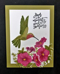 IC610 Hummingbird and Petunias by hobbydujour - Cards and Paper Crafts at Splitcoaststampers