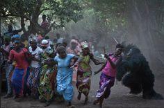The 'Agomalah' masquerade, Casamance forest festival, Senegal © Jason Florio for NGO Concern Universal