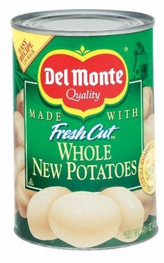 Del Monte Whole New Potatoes 14.5 oz Del Monte http://www.amazon.com/dp/B0005ZW8EQ/ref=cm_sw_r_pi_dp_-vtpub0Y6VR93