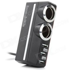 Color: Black + Silver; Brand: Kashimura; Model: KX-179; Quantity: 1 Piece; Material: ABS; Shade Of Color: Black; Input Voltage: 12 V; Socket Output Voltage: 12 V; Socket Output Current: 5 A; USB Output Voltage: 5 V; USB Output Current: 2.4 / 1.8 A; Cable Length: 150 cm; Interface/Port: USB 2.0; Packing List: 1 x Cigarette lighter (150cm-cable); http://j.mp/1tinkIm