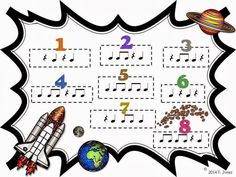 Music Game for quarter note, quarter rest, eighth notes