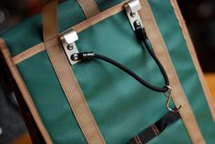 Grocery Pannier in Green and Taupe by TrilliumArtisans on Etsy, $40.00
