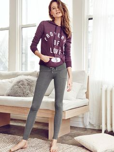 So cute, so cozy. The kind you want to walk everywhere in. | Victoria's Secret Foldover Pocket Legging