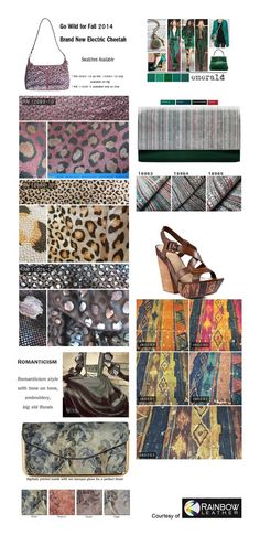 Fashion trends 2014 courtesy of Rainbow Leather. New York City based Rainbow Leather provides materials that are used to make products such as handbags, shoes, and accessories.