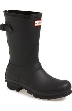 Hunter Original Short Back Adjustable Rain Boot (Women) available at #Nordstrom