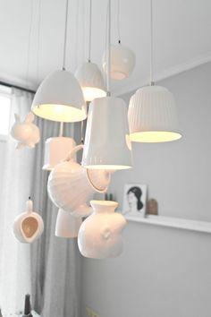 tafellamp van kopjes: Mirella uit Den Helder - 101 Woonideeën