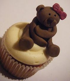 Teddy Bear Cupcake Topper - Tutorial Video
