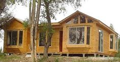 Casas Prefabricadas Cisterna | Mitula Casas Log Homes, Shed, 1, Outdoor Structures, House Styles, Rustic Cabins, Chile, Home Decor, Manufactured Housing