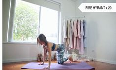 fire hyrant Best Workout Routine, Butt Workout, Gym Workouts, At Home Workouts, Do Exercise, Excercise, Fitness Motivation Tumblr, Glute Kickbacks, Aerobics
