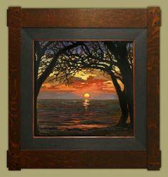 """November Sun"" | Jan Schmuckal | Dard Hunter Studios Frame | Arts and Crafts | Craftsman | Bungalow"