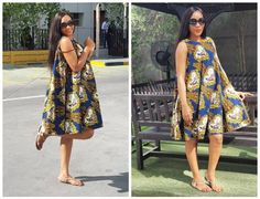 Kiki is doing great as a fashion designer ,ana design nguo mbalimbail na za occations tofauti tofauti.Here are some simple cute African Print dresses from her. These dresses are so versatile you ca…