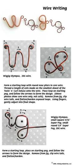 Wire Writing - A WigJig Jewelry Making Technique