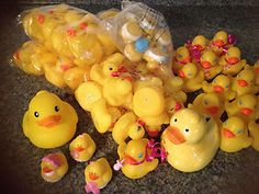 80 RUBBER DUCKY DUCKS for BABY SHOWER & BIRTHDAY PARTY FAVORS http://www.ebay.com/itm/80-RUBBER-DUCKY-DUCKS-for-BABY-SHOWER-BIRTHDAY-PARTY-FAVORS-/261245319176?pt=LH_DefaultDomain_0=item3cd36f3808