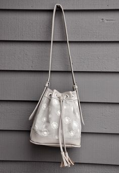 Amazing handmade bag--ikat bag: Bag in Grey Vinyl