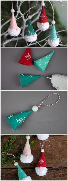 Pom Pom Gnome Ornaments