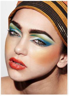 Blanche Macdonald Makeup grad and Nobasura Agency  talent, Jenna Kuchera whipping up some tropical colours!