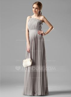 Bridesmaid Dresses - $121.99 - Empire One-Shoulder Floor-Length Chiffon Bridesmaid Dress With Ruffle Beading (007000957) http://jjshouse.com/Empire-One-Shoulder-Floor-Length-Chiffon-Bridesmaid-Dress-With-Ruffle-Beading-007000957-g957?ver=xdegc7h0