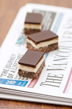 What's in a Nanaimo Bar?… - Baking Obsession   Like grandma makes, but I can make these without walnuts.