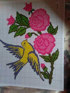 Flor e pássaro