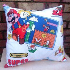 Super Mario Bros Game Nintendo Vintage Fabric by AlienCoutureUK
