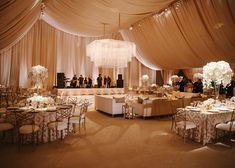 Breathtaking Ceiling Decoration IdeasFor Your Wedding - Draped Fabric from InStyle.com
