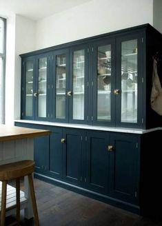 The clerkenwell showroom shaker kitchen classic style kitchen by devol kitchens classic Dark Kitchen Cabinets, Shaker Kitchen, Kitchen Layout, New Kitchen, Kitchen Design, Blue Cabinets, Kitchen Wood, Stylish Kitchen, Kitchen Ideas