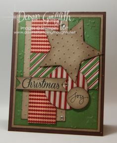 Christmas Joy . New color to me to love which is Garden Green . Designer paper is from Trim the Tree designer paper stacks ,Check out all the details about this card on my blog today . Thanks