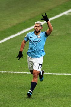 Sergio Aguero of Manchester City celebrates after scoring his team's second goal during the Premier League match between Manchester City and Chelsea FC at Etihad Stadium on February 2019 in. Get premium, high resolution news photos at Getty Images Football Icon, World Football, Football Match, Manchester City Wallpaper, Sergio Aguero, Kun Aguero, Arsenal Players, Messi Soccer, Premier League Champions