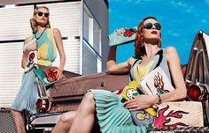 Kitschy clutches: Prada does Rockabilly