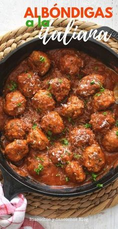 Almôndegas italianas com espaguete - Food and Drink - Meat Recipes, Pasta Recipes, Mexican Food Recipes, Snack Recipes, Dinner Recipes, Cooking Recipes, Healthy Recipes, Healthy Chicken Dinner, Italian Recipes