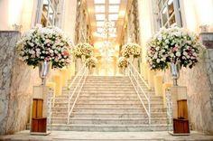 Casamento Jockey SP: branco e rosa - Amarelo Ouro