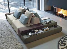 Modular fabric sofa sanders by ditre italia design stefano spessotto lorella agnoletto - Divano doppia seduta ...