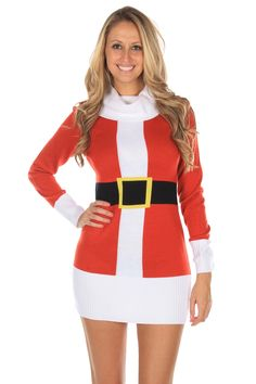 It's not fair that men always get to play Santa. This Christmas sweater dress levels the playing field, giving the ladies a chance to shine!