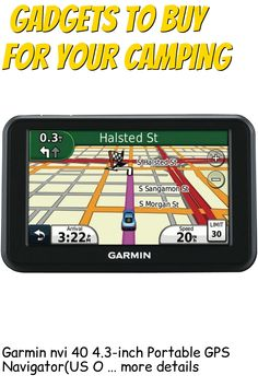 (This is an affiliate pin) Garmin nvi 40 4.3-inch Portable GPS Navigator(US Only) (Discontinued by Manufacturer) Camping Gadgets