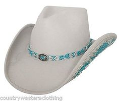 #Western cowboy hat #natural beauty silver grey wool felt #stetson barn line danc,  View more on the LINK: http://www.zeppy.io/product/gb/2/141664508027/