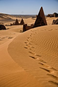 Pyramids of Meroe The Meroe Pyramids are located in the North-East of Sudan (Nubia, Kingdom of Kush).