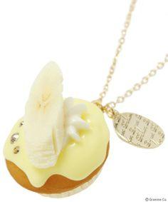 Banana CupCake Necklace