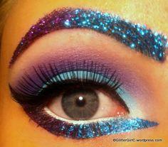 Purple and Blue Sparkles