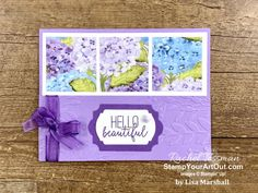 Hand Made Greeting Cards, Greeting Cards Handmade, Fun Fold Cards, Folded Cards, Purple Cards, Make Your Own Card, Free Stencils, Cardmaking And Papercraft, Stamping Up Cards