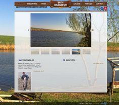 www.baltapeste.ro - site de prezentare Desktop Screenshot, Web Design, Polaroid Film, Design Web, Website Designs, Site Design